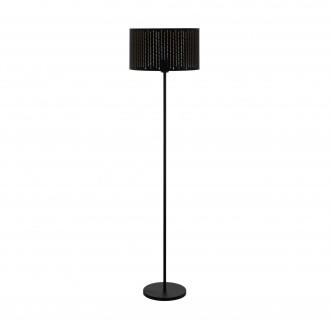 EGLO 98315   Varillas Eglo stojaté svietidlo kruhový 151cm nožný vypínač 1x E27 čierna, zlatý