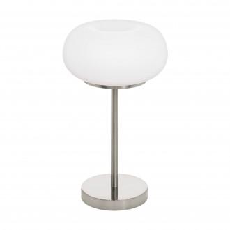 EGLO 98658 | EGLO-Connect-Optica Eglo stolové múdre osvetlenie 47,5cm prepínač na vedení regulovateľná intenzita svetla, nastaviteľná farebná teplota, meniace farbu, na diaľkové ovládanie 1x LED 2200lm 2700 <-> 6500K saténový nike, opál