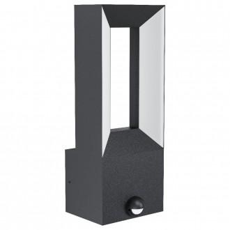 EGLO 98726   Riforano Eglo rameno stenové svietidlo pohybový senzor 2x LED 1100lm 3000K IP44 antracit, biela
