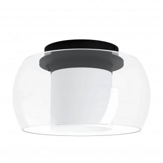 EGLO 99022 | EGLO-Connect-Briaglia Eglo stropné múdre osvetlenie regulovateľná intenzita svetla, nastaviteľná farebná teplota, meniace farbu, na diaľkové ovládanie 1x LED 3150lm 2700 <-> 6500K čierna, biela, priesvitné