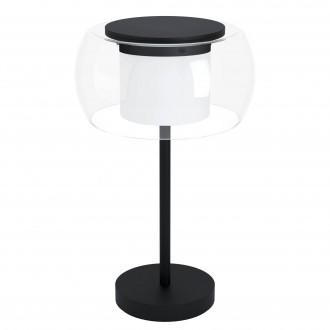 EGLO 99024 | EGLO-Connect-Briaglia Eglo stolové múdre osvetlenie 51cm prepínač na vedení regulovateľná intenzita svetla, nastaviteľná farebná teplota, meniace farbu, na diaľkové ovládanie 1x LED 1850lm 2700 <-> 6500K čierna, biela, priesvitné