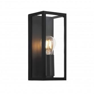 EGLO 99123 | Amezola Eglo stenové, stropné svietidlo 1x E27 IP44 čierna, priesvitné