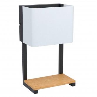 EGLO 99126 | Galdakao Eglo stenové svietidlo prepínač na vedení 1x LED 540lm 3000K čierna, biela, drevo
