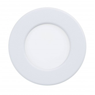 EGLO 99206 | Fueva-5 Eglo zabudovateľné LED panel kruhový Ø86mm 1x LED 360lm 4000K IP44 biela