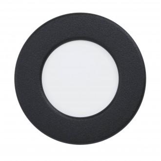 EGLO 99213   Fueva-5 Eglo zabudovateľné LED panel kruhový Ø86mm 1x LED 360lm 4000K IP44 čierna, biela