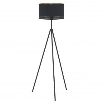 EGLO 99279   Esteperra Eglo stojaté svietidlo 140,5cm nožný vypínač 1x E27 čierna, zlatý