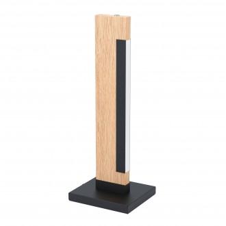 EGLO 99295   Camacho Eglo stolové svietidlo 40,5cm dotykový vypínač 1x LED 800lm 3000K dub, čierna, biela