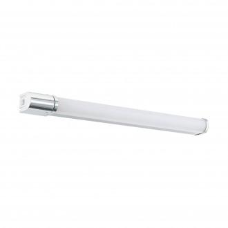 EGLO 99339 | Tragacete-1 Eglo stenové svietidlo tehla prepínač zásuvkové zospodu 1x LED 1300lm 4000K IP44 chróm, opál