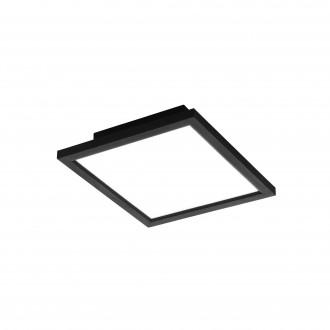 EGLO 99415 | EGLO-Connect-Salobrena Eglo sadrokartónový strop, stropné, visiace múdre osvetlenie štvorec diaľkový ovládač regulovateľná intenzita svetla, nastaviteľná farebná teplota, meniace farbu 1x LED 2000lm 2700 <-> 6500K čierna, biela