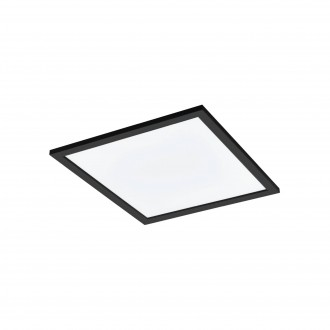 EGLO 99416 | EGLO-Connect-Salobrena Eglo sadrokartónový strop, stropné, visiace múdre osvetlenie štvorec diaľkový ovládač regulovateľná intenzita svetla, nastaviteľná farebná teplota, meniace farbu 1x LED 2800lm 2700 <-> 6500K čierna, biela