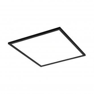 EGLO 99417 | EGLO-Connect-Salobrena Eglo sadrokartónový strop, stropné, visiace múdre osvetlenie štvorec diaľkový ovládač regulovateľná intenzita svetla, nastaviteľná farebná teplota, meniace farbu 1x LED 4300lm 2700 <-> 6500K čierna, biela