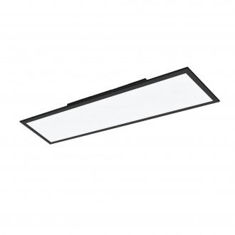 EGLO 99418 | EGLO-Connect-Salobrena Eglo sadrokartónový strop, stropné, visiace múdre osvetlenie obdĺžnik diaľkový ovládač regulovateľná intenzita svetla, nastaviteľná farebná teplota, meniace farbu 1x LED 4300lm 2700 <-> 6500K čierna, biela
