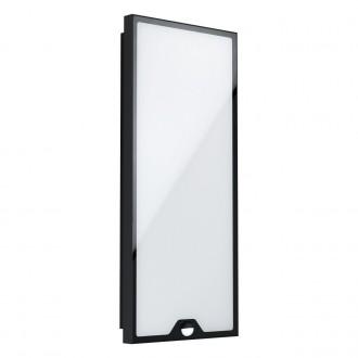 EGLO 99522 | Casazza Eglo stenové, stropné svietidlo obdĺžnik pohybový senzor 1x LED 2200lm 3000K IP44 čierna, biela