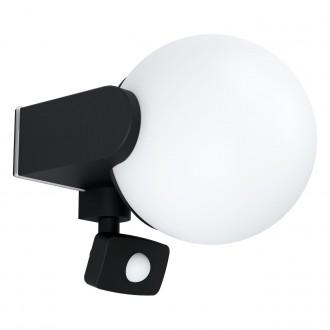 EGLO 99573   Rubio Eglo stenové svietidlo pohybový senzor 1x E27 IP44 antracit, biela
