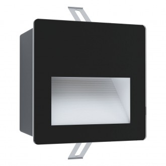 EGLO 99574 | Aracena Eglo zabudovateľné svietidlo štvorec 1x LED 400lm 4000K IP65 čierna, biela