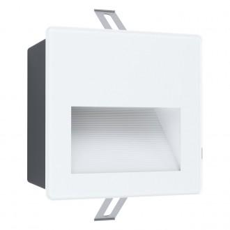 EGLO 99575 | Aracena Eglo zabudovateľné svietidlo štvorec 1x LED 400lm 4000K IP65 biela, čierna