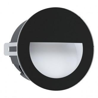 EGLO 99576 | Aracena Eglo zabudovateľné svietidlo kruhový Ø125mm 1x LED 320lm 4000K IP65 čierna, biela