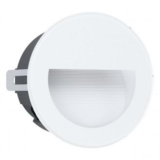 EGLO 99577 | Aracena Eglo zabudovateľné svietidlo kruhový Ø125mm 1x LED 320lm 4000K IP65 biela, čierna