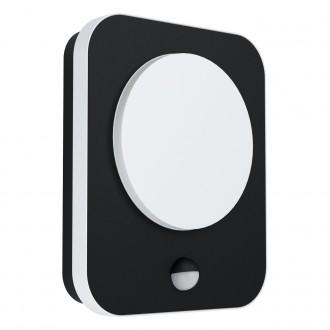 EGLO 99584   Madriz Eglo stenové svietidlo obdĺžnik pohybový senzor 1x LED 993lm 3000K IP44 čierna, biela