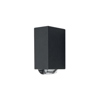 ELSTEAD AGNER 2W | Agner Elstead stenové svietidlo 1x LED 224lm IP54 grafit, priesvitné