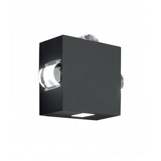 ELSTEAD AGNER-4W | Agner Elstead stenové svietidlo 1x LED 448lm IP54 grafit, priesvitné