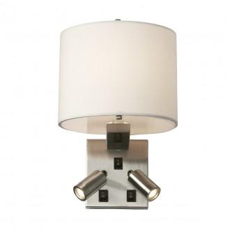 ELSTEAD BELMONT/3W | Belmont Elstead rameno stenové svietidlo tri vypínače 1x E14 + 2x LED 240lm saténový nike, biela