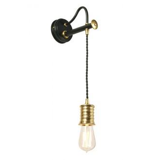 ELSTEAD DOUILLE1 BPB | Douille Elstead rameno stenové svietidlo nastaviteľná výška 1x E27 čierna, mosadz