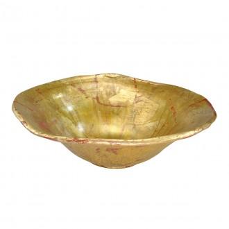 ELSTEAD FB/BEAUVOIR BOWL | Elstead doplnky miska ručne maľované starožitná zlata, starožitná zlata