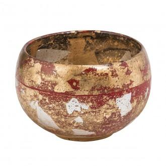 ELSTEAD FB/VERMILIONBOWL | Elstead doplnky miska ručne maľované starožitná zlata, červená