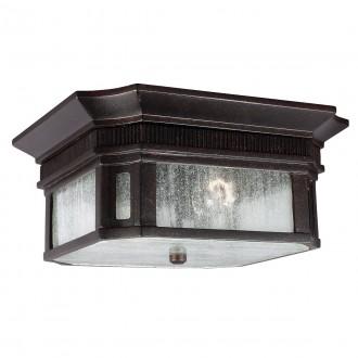 ELSTEAD FE/FEDERAL/F | Federal Elstead stropné svietidlo navrhnuté na pobrežie 2x E27 IP44 UV mosadzovo hnedý, bublinový efekt