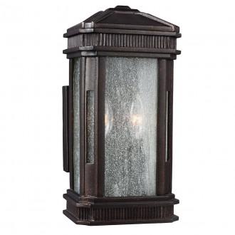 ELSTEAD FE/FEDERAL/S | Federal Elstead stenové svietidlo navrhnuté na pobrežie 2x E14 IP44 UV mosadzovo hnedý, bublinový efekt