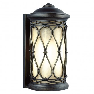 ELSTEAD FE/WELLFLEET/S | Wellfleet Elstead stenové svietidlo navrhnuté na pobrežie 1x E27 IP44 UV antická bronzováová, jantárové