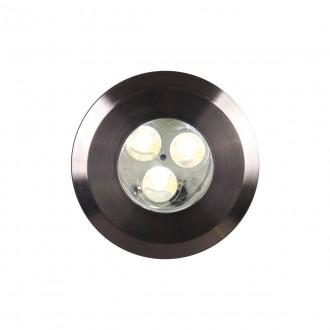 ELSTEAD GZ/FUSION1 | Bronze-Elite-Fusion Elstead zabudovateľné svietidlo Ø90mm 90x90mm 3x LED 300lm 3000K IP65 zušľachtená oceľ, nehrdzavejúca oceľ, priesvitné