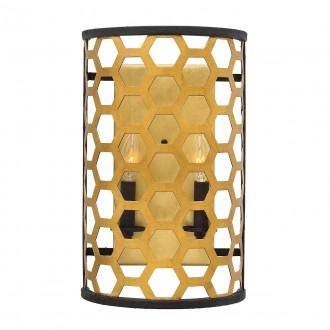 ELSTEAD HK/FELIX2 | Felix-EL Elstead stenové svietidlo 2x E14 starožitná zlata, antická čierna