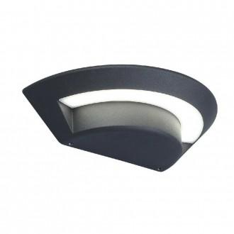 ELSTEAD KASPER | Kasper Elstead stenové svietidlo 1x LED 702lm IP54 grafit