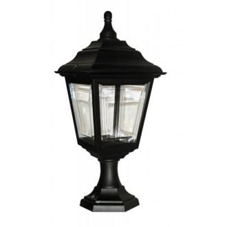 ELSTEAD KERRY-PED-POR | Kerry Elstead stojaté, stropné svietidlo navrhnuté na pobrežie 1x E27 IP44 UV čierna, priesvitné