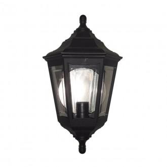 ELSTEAD KINSALE-FLUSH | Kinsale Elstead stenové svietidlo navrhnuté na pobrežie 1x E27 IP44 UV čierna, priesvitné