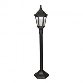 ELSTEAD KINSALE-PILLAR | Kinsale Elstead stojaté svietidlo 118cm navrhnuté na pobrežie 1x E27 IP44 UV čierna, priesvitné