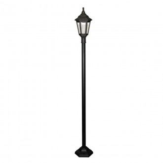 ELSTEAD KINSALE POST | Kinsale Elstead stojaté svietidlo 193cm navrhnuté na pobrežie 1x E27 IP44 UV čierna, priesvitné