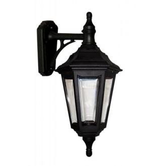 ELSTEAD KINSALE WALL | Kinsale Elstead rameno stenové svietidlo navrhnuté na pobrežie 1x E27 IP44 UV čierna, priesvitné