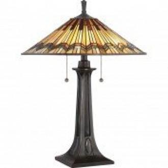 ELSTEAD QZ/ALCOTT/TL | Alcott Elstead stolové svietidlo 63,5cm prepínač 2x E27 mosadzovo hnedý, viacferebné