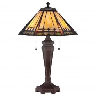 ELSTEAD QZ/ARDEN/TL | Arden Elstead stolové svietidlo 59,7cm prepínač 2x E27 antická bronzováová, viacferebné