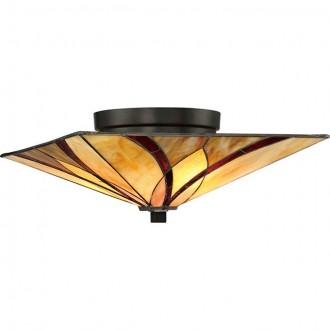 ELSTEAD QZ/ASHEVILLE/F | Asheville Elstead stropné svietidlo 2x E27 mosadzovo hnedý, viacferebné