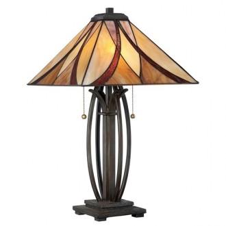 ELSTEAD QZ/ASHEVILLE/TL | Asheville Elstead stolové svietidlo 63,5cm 2x prepínač na ťah 2x E27 mosadzovo hnedý, viacferebné