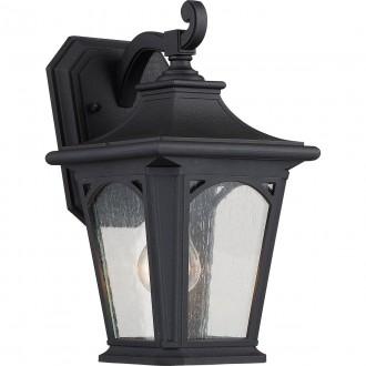 ELSTEAD QZ/BEDFORD2/S | Bedford-EL Elstead rameno stenové svietidlo navrhnuté na pobrežie 1x E27 IP44 UV čierna, bublinový efekt