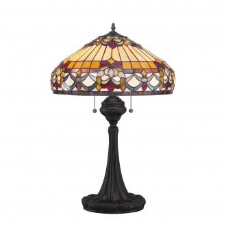 ELSTEAD QZ-BELLE-FLEUR-TL | Belle-Fleur Elstead stolové svietidlo 68,6cm prepínač na vedení ručne vyrobené 2x E27 mosadzovo hnedý, viacferebné
