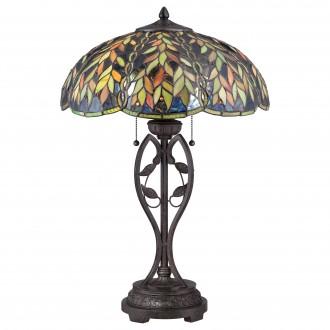ELSTEAD QZ/BELLE/TL | Belle Elstead stolové svietidlo 64,8cm prepínač na vedení ručne vyrobené 2x E27 mosadzovo hnedý, viacferebné