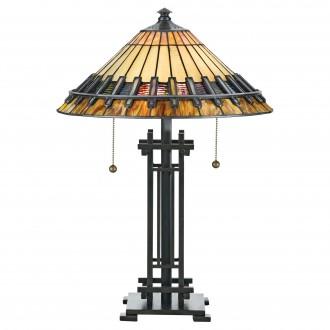 ELSTEAD QZ/CHASTAIN/TL | Chastain Elstead stolové svietidlo 57,2cm 2x prepínač na ťah ručne vyrobené 2x E27 mosadzovo hnedý, viacferebné