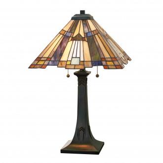 ELSTEAD QZ/INGLENOOK/TL | Inglenook Elstead stolové svietidlo 63,5cm prepínač 2x E27 mosadzovo hnedý, viacferebné