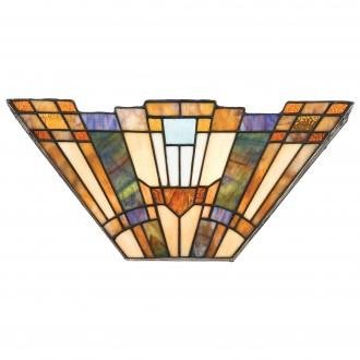 ELSTEAD QZ/INGLENOOK/WU | Inglenook Elstead stenové svietidlo 2x E14 mosadzovo hnedý, viacferebné
